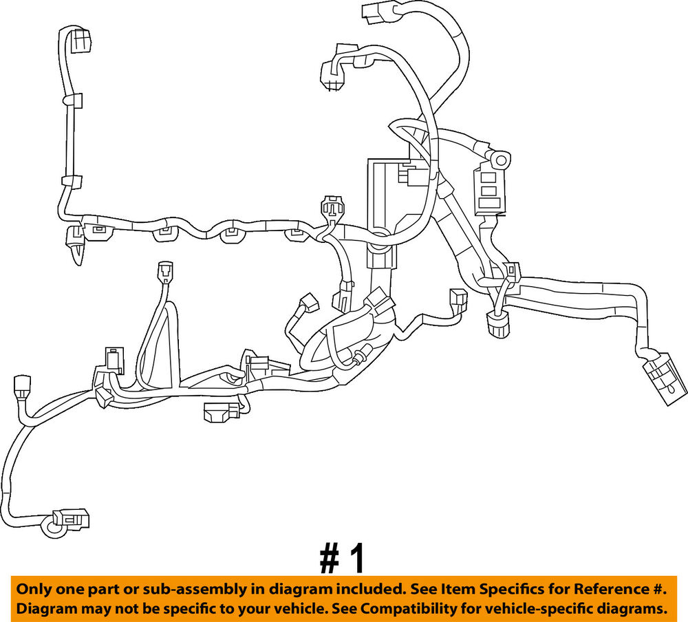 hight resolution of details about ford oem fiesta engine control module ecm pcu pcm wiring harness d2bz12a581c