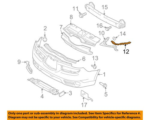 small resolution of details about subaru oem 06 07 b9 tribeca front bumper side bracket left 57707xa03a