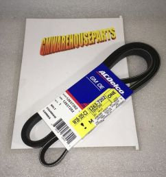 silverado sierra serpentine belt altenator ebay jpg 1000x798 2003 trailblazer serpentine belt [ 1000 x 798 Pixel ]
