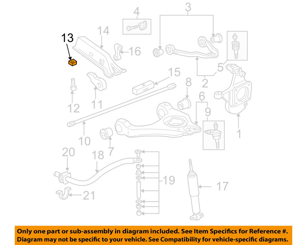 medium resolution of details about gm oem front suspension torsion bar nut 11561233