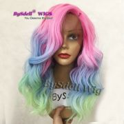 medium length synthetic rainbow
