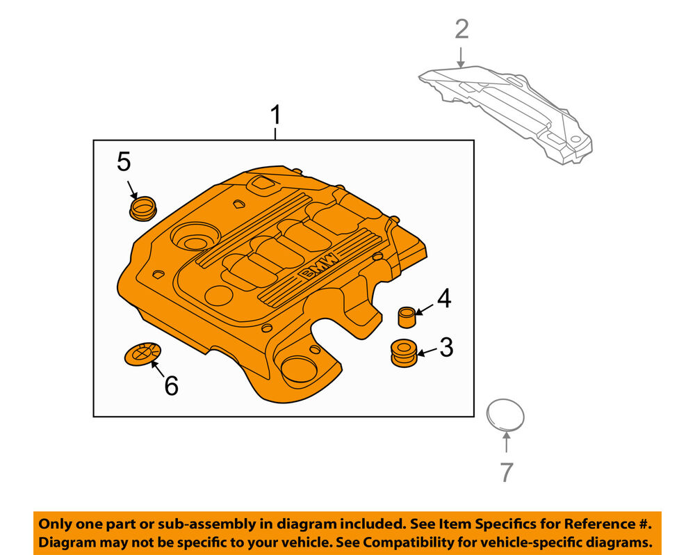 hight resolution of details about bmw oem 10 11 335d 3 0l l6 engine appearance cover engine cover 11147800572