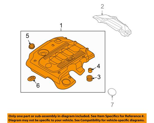 small resolution of details about bmw oem 10 11 335d 3 0l l6 engine appearance cover engine cover 11147800572