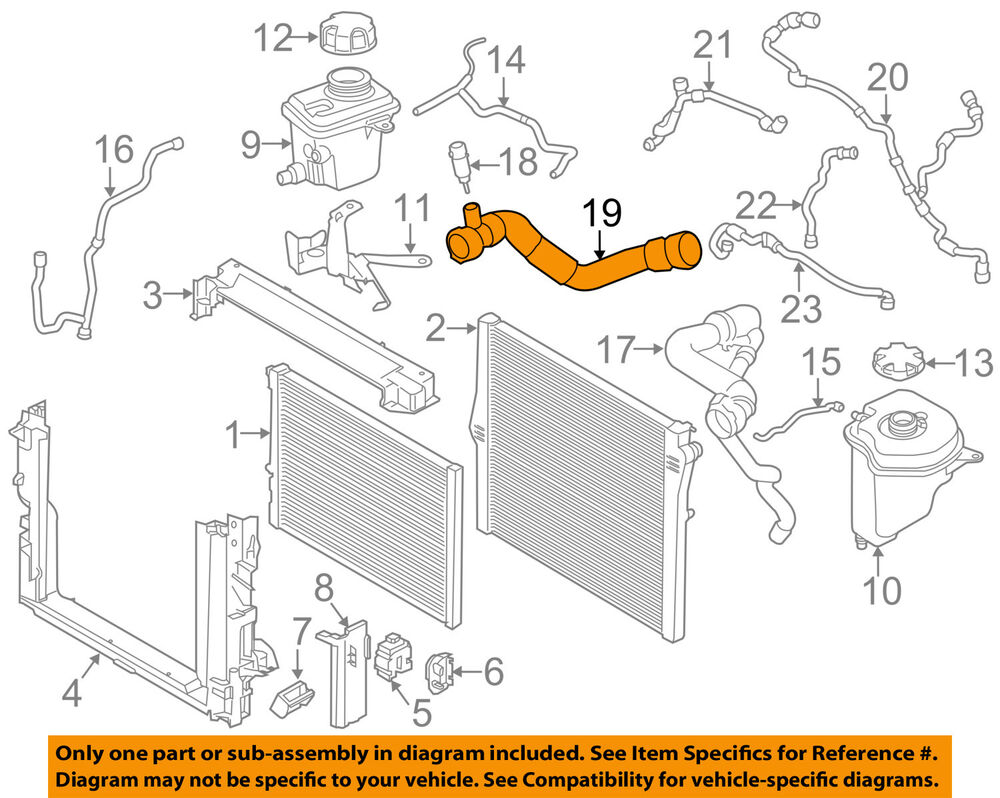 hight resolution of details about bmw oem 15 18 x6 radiator lower hose 11537848370