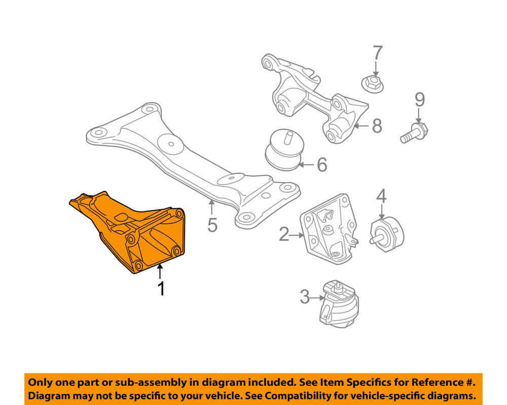 hight resolution of details about bmw oem 07 13 328i engine motor mount right 22116779370