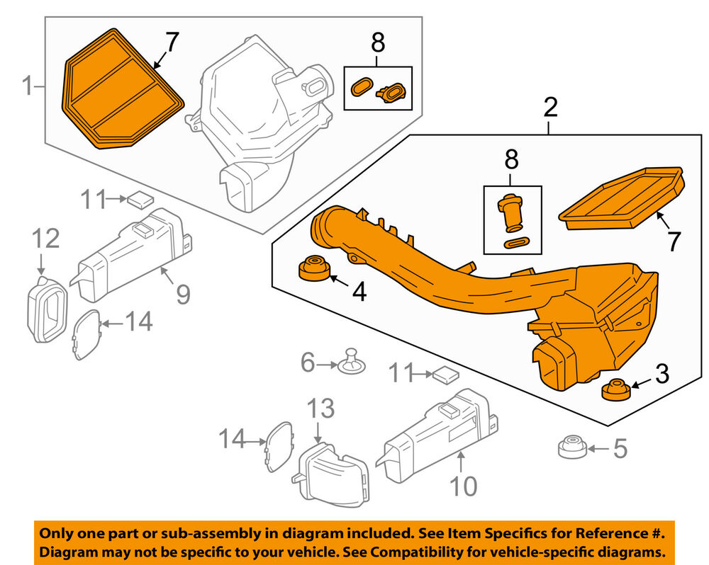 hight resolution of details about bmw oem 15 16 m4 3 0l l6 air cleaner intake filter box housing left 13717846269