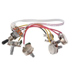 details about wiring harness kit 3 way toggle switch 2volume 2tone jack for lp electric guitar [ 1000 x 1000 Pixel ]