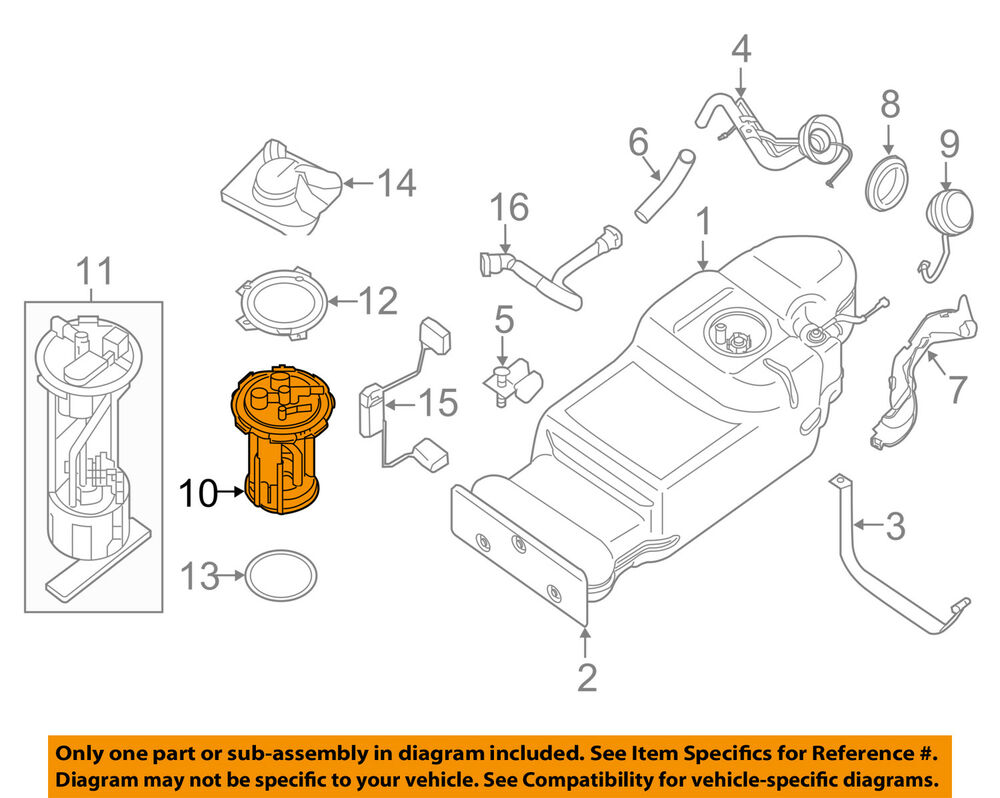 hight resolution of details about nissan oem 05 18 frontier fuel pump 17040zz00a