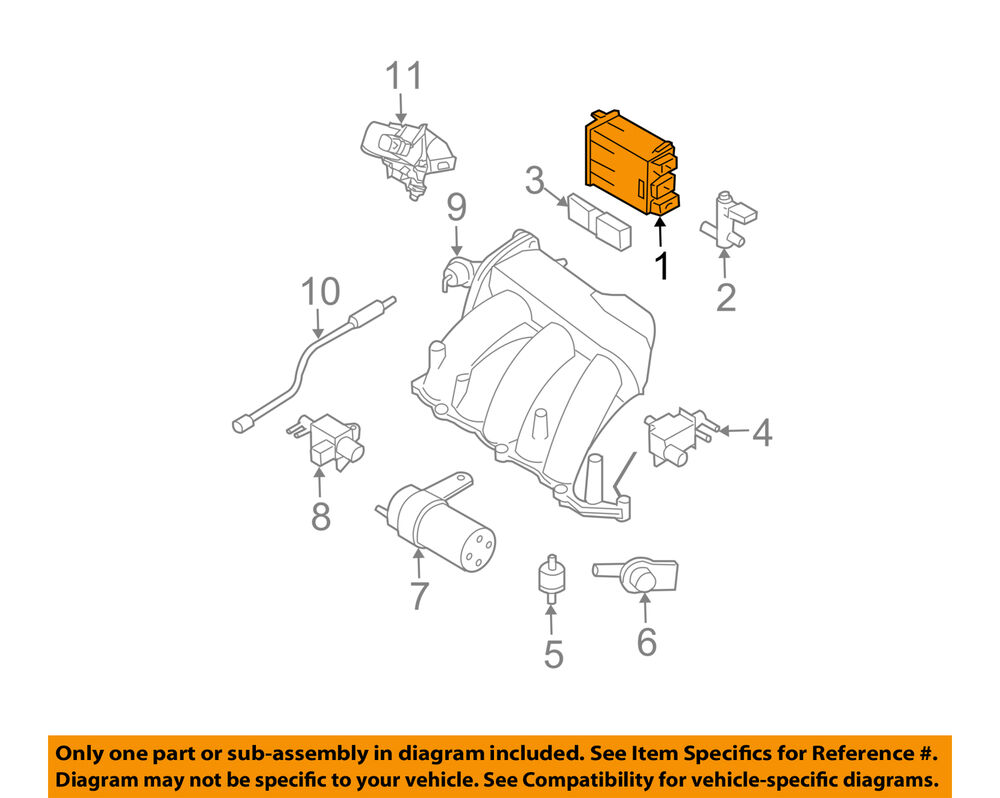 hight resolution of details about nissan oem 09 14 murano vapor canister fuel gas emission 14950ca00a