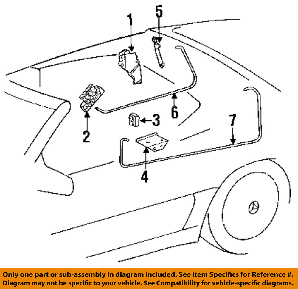 hight resolution of details about mercedes oem 99 02 sl500 stowage convertible soft top cylinder 1298002172