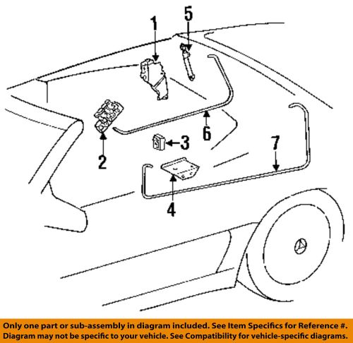small resolution of details about mercedes oem 99 02 sl500 stowage convertible soft top cylinder 1298002172