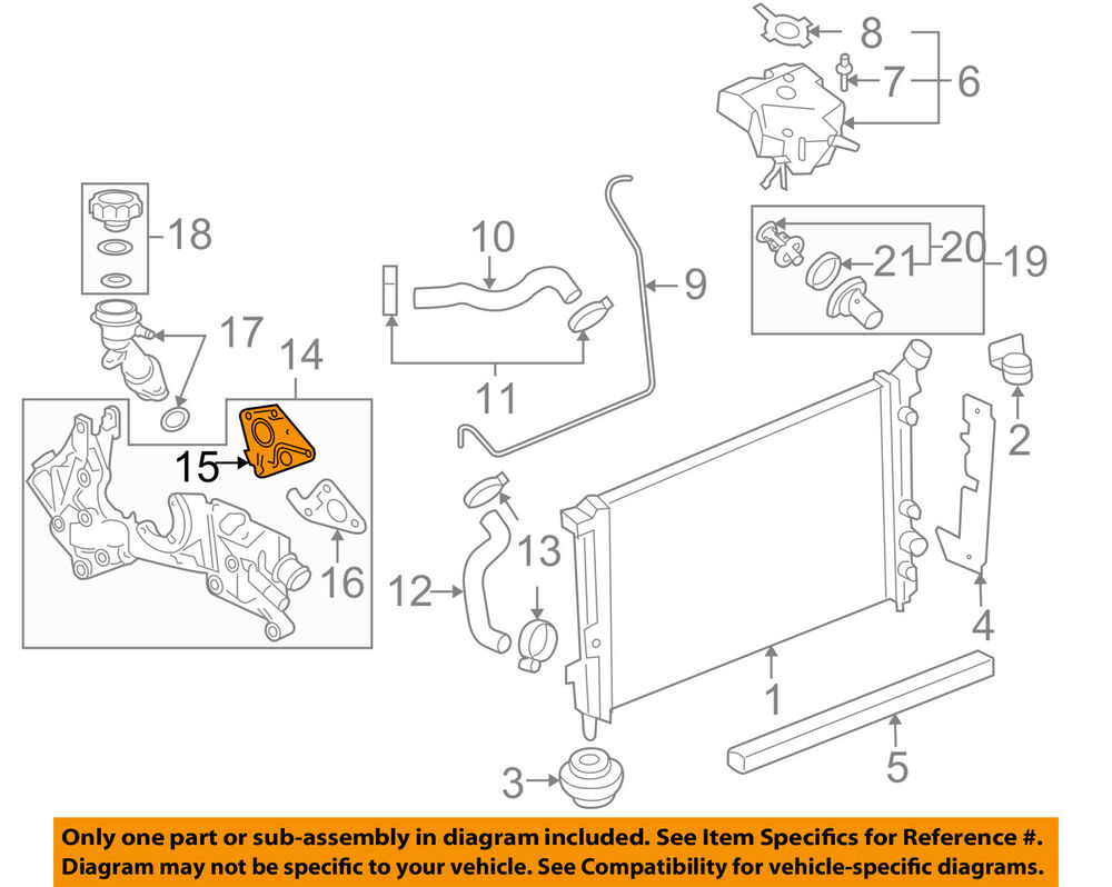 hight resolution of details about chevrolet gm oem 06 08 uplander radiator cross over pipe gasket right 12577704