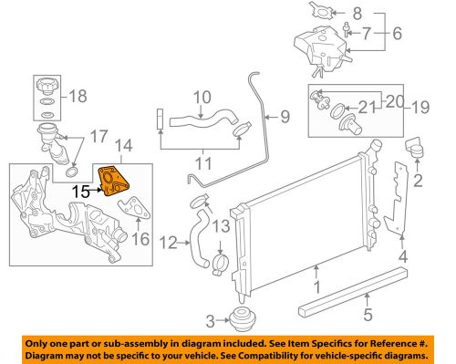 small resolution of details about chevrolet gm oem 06 08 uplander radiator cross over pipe gasket right 12577704