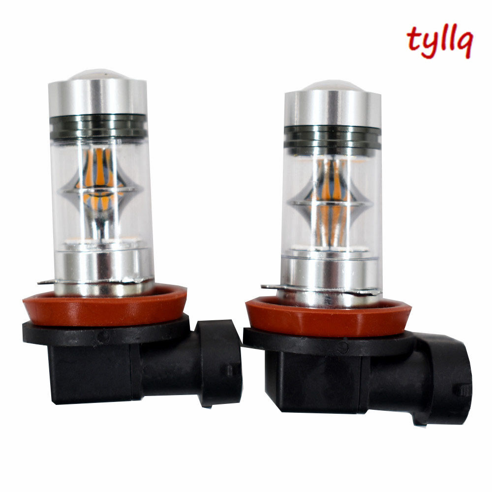 medium resolution of details about 2x 100w h11 h8 h9 high power cree 3000k orange led fog lights bulbs us w 1 us