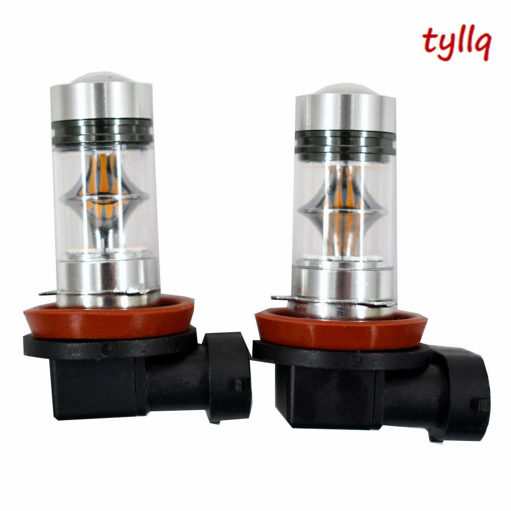 hight resolution of details about 2x 100w h11 h8 h9 high power cree 3000k orange led fog lights bulbs us w 1 us