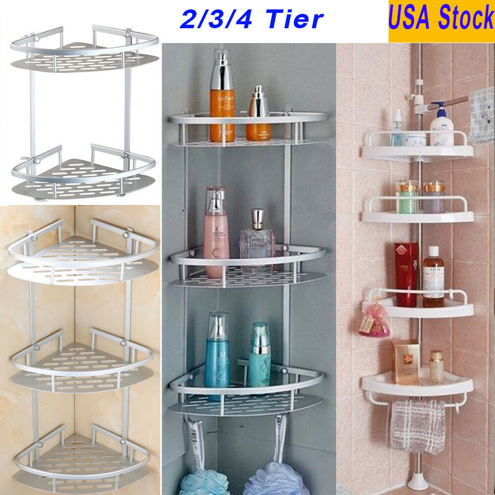Bathroom Shower Caddy Shelf Corner Bath Wall Mount Rack Storage Holder Organizer  eBay