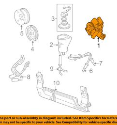 details about ford oem 96 04 mustang power steering pump f6zz3a674acrm [ 1000 x 798 Pixel ]