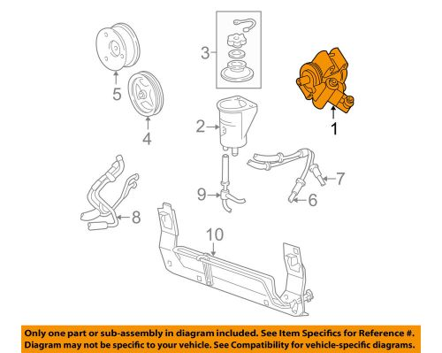 small resolution of details about ford oem 96 04 mustang power steering pump f6zz3a674acrm