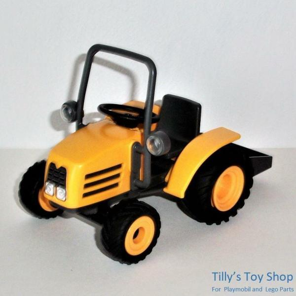 Playmobil Farm Construction Vehicle - Yellow Tractor