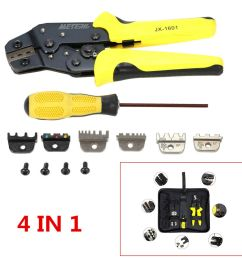 details about 4in 1 professional wire crimper pliers ratcheting terminal crimping tool for car [ 1000 x 1000 Pixel ]