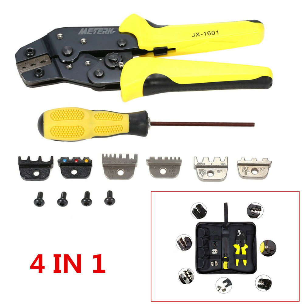 hight resolution of details about 4in 1 professional wire crimper pliers ratcheting terminal crimping tool for car