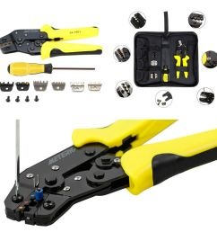 details about portable 4in1 wire crimper pliers ratcheting terminal crimping tool kit for car [ 1000 x 1000 Pixel ]