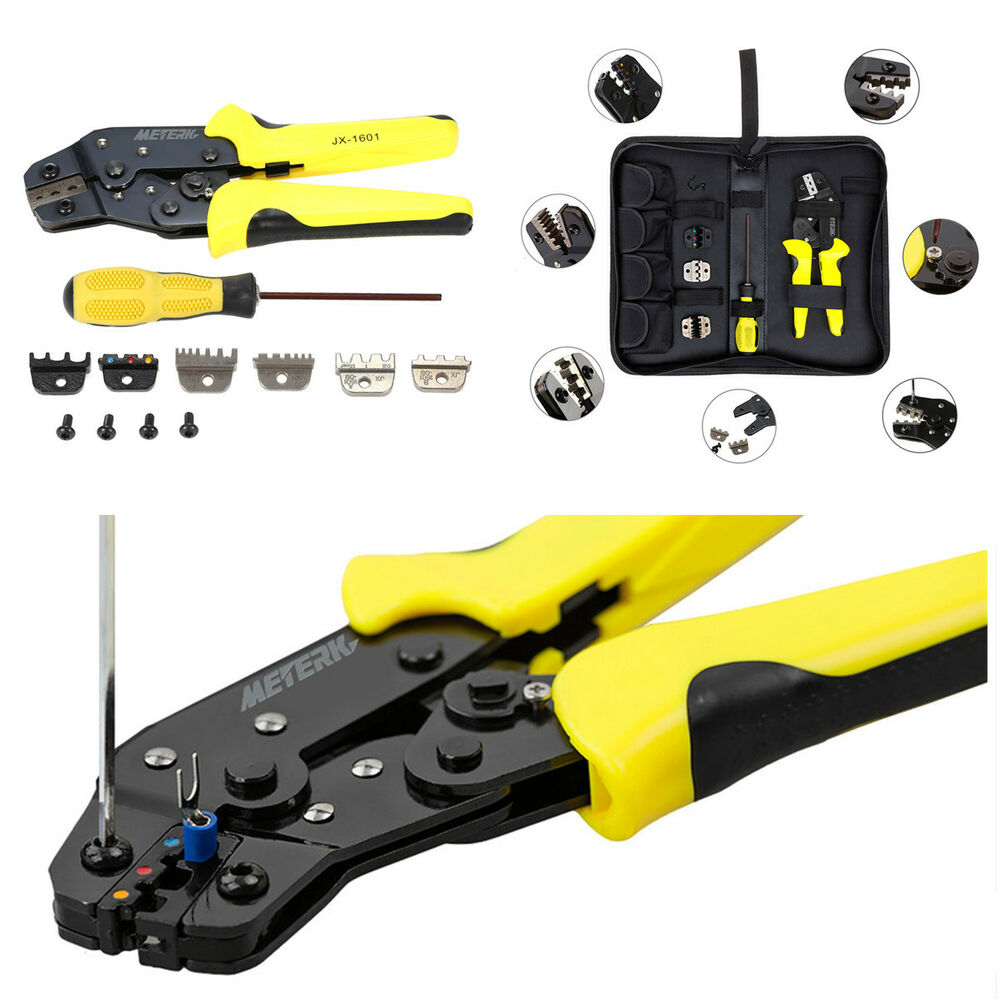 hight resolution of details about portable 4in1 wire crimper pliers ratcheting terminal crimping tool kit for car