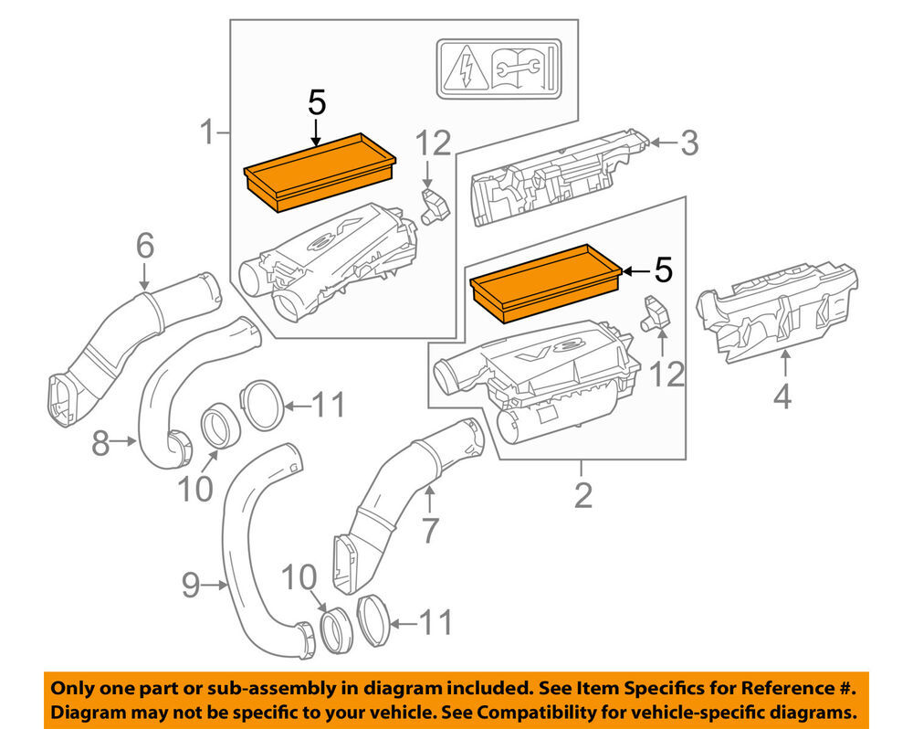 hight resolution of details about genuine new oem mercedes benz engine air filter element 278 094 00 04