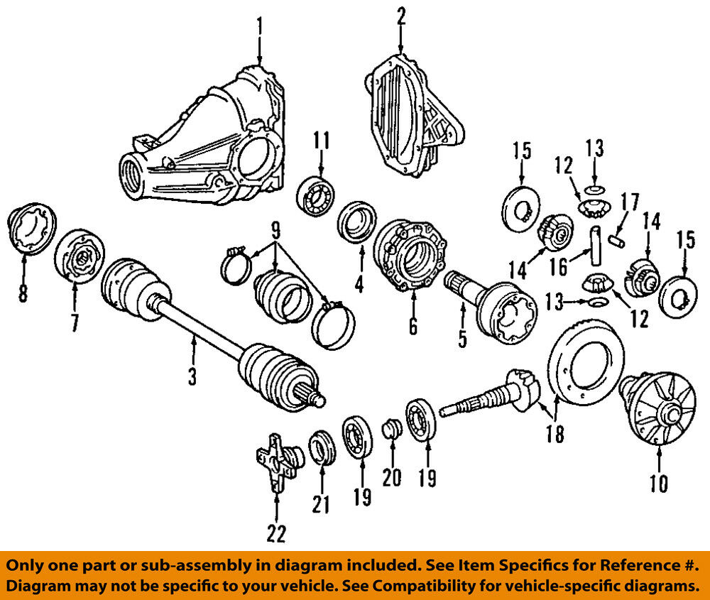medium resolution of details about mercedes oem e420 rear differential pinion yoke companion flange 1263501645