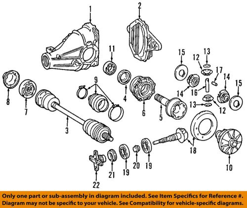 small resolution of details about mercedes oem e420 rear differential pinion yoke companion flange 1263501645