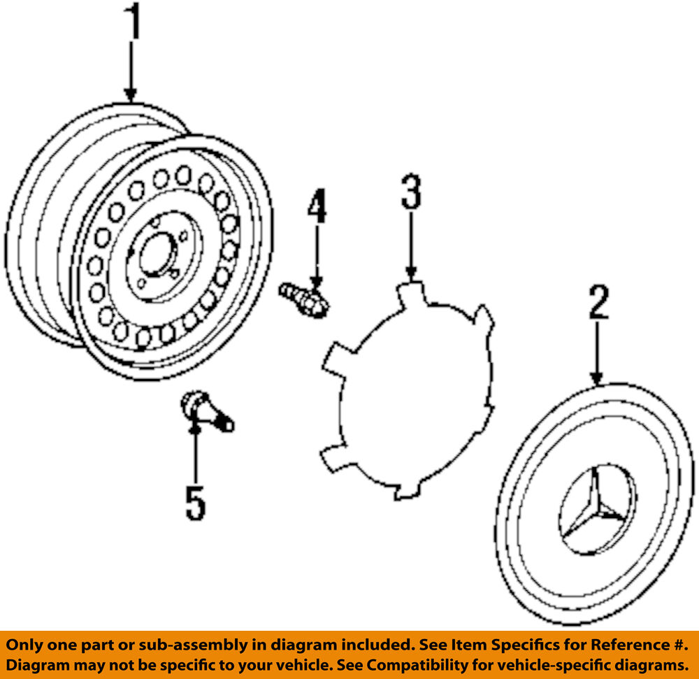 hight resolution of details about mercedes oem 94 98 sl500 wheels wheel cover 1404000025