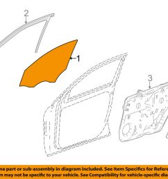 details about mercedes mercedes benz oem 12 15 ml350 front door window glass left 1667200020 [ 1000 x 798 Pixel ]