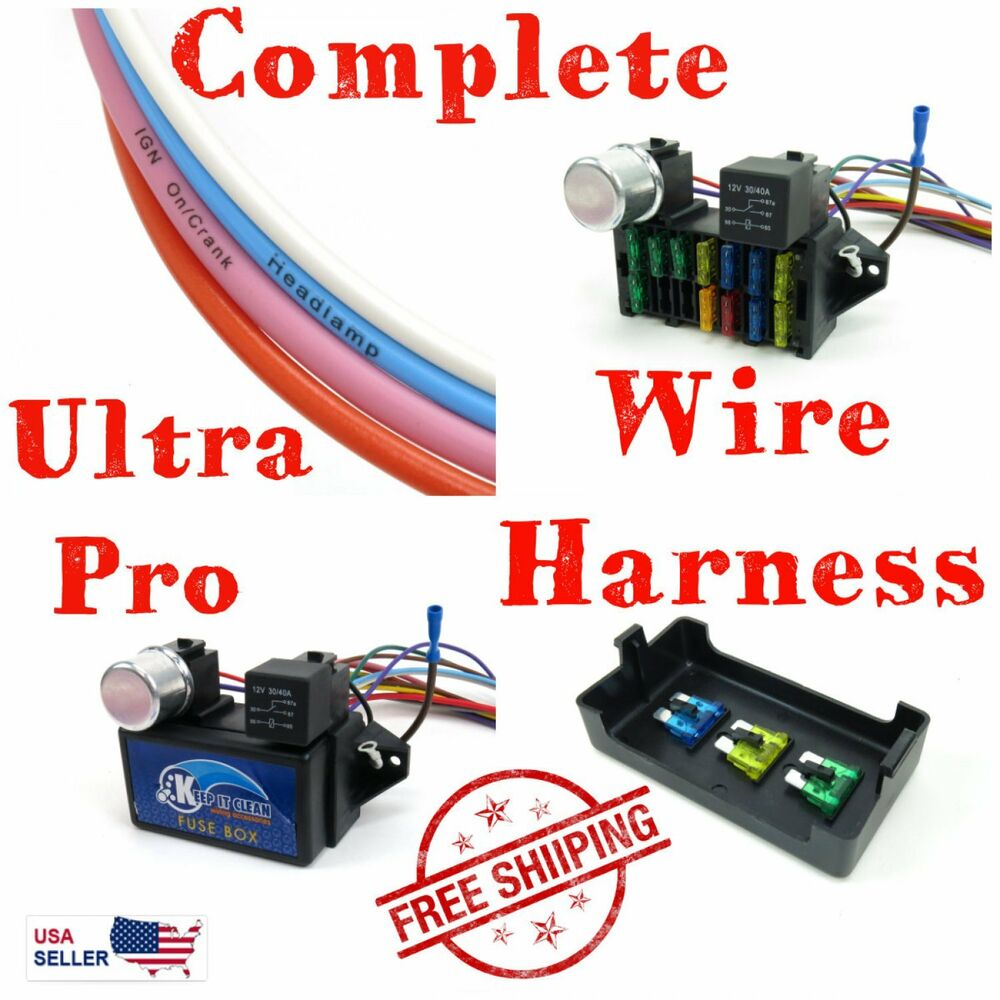 medium resolution of details about wire harness fuse block upgrade kit for 73 79 chevy truck hot rod rat rod