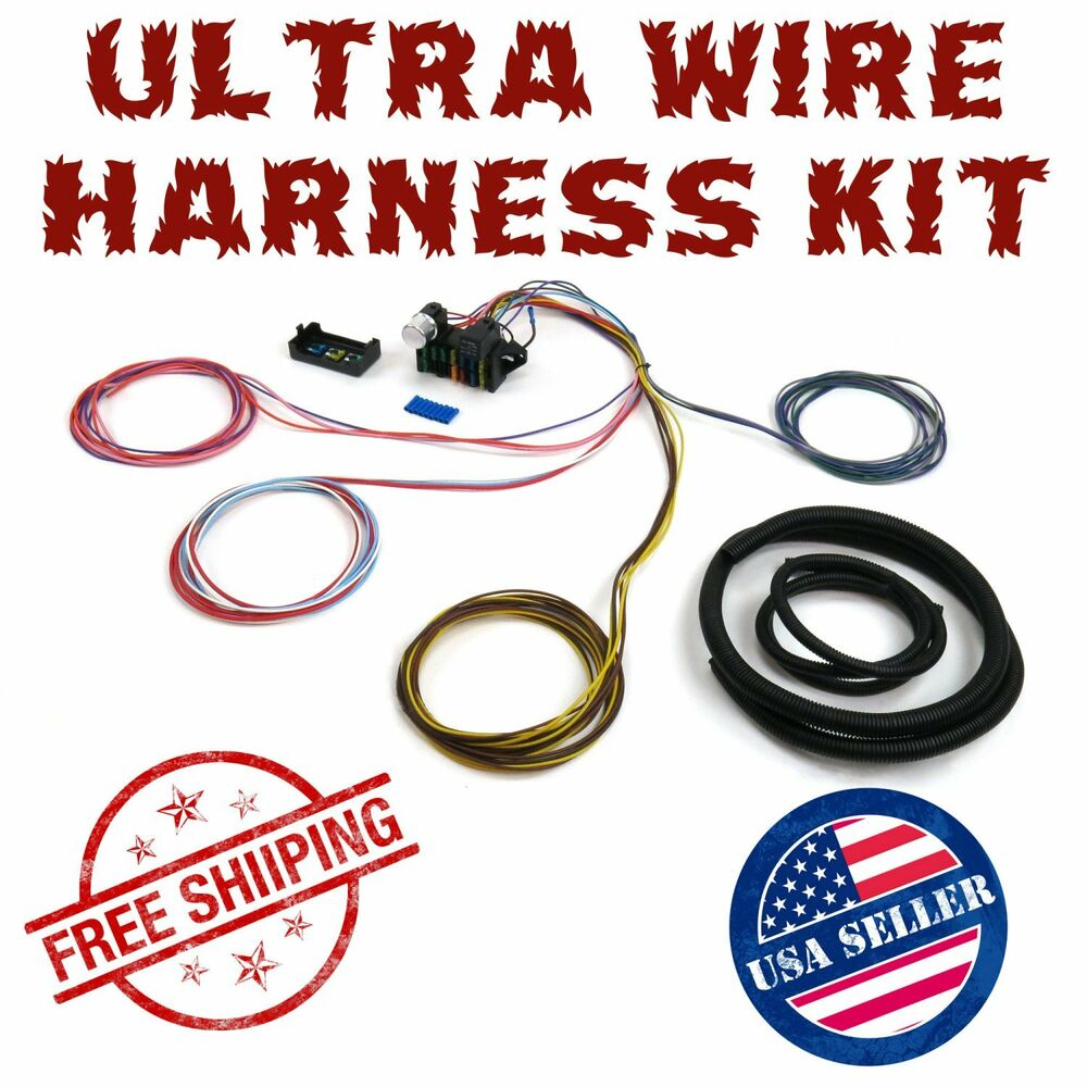 medium resolution of 1960 1965 ford falcon ultra pro wire harness system 12 fuse wdetails about 1960 1965 ford