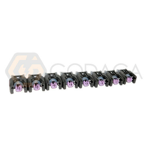 8x Connector 2-way for Fuel Injector Buick bmw mercedes w