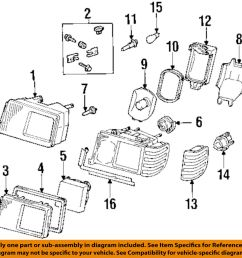 details about mercedes oem 90 93 300e headlight headlamp bulb 0015444594 [ 1000 x 978 Pixel ]