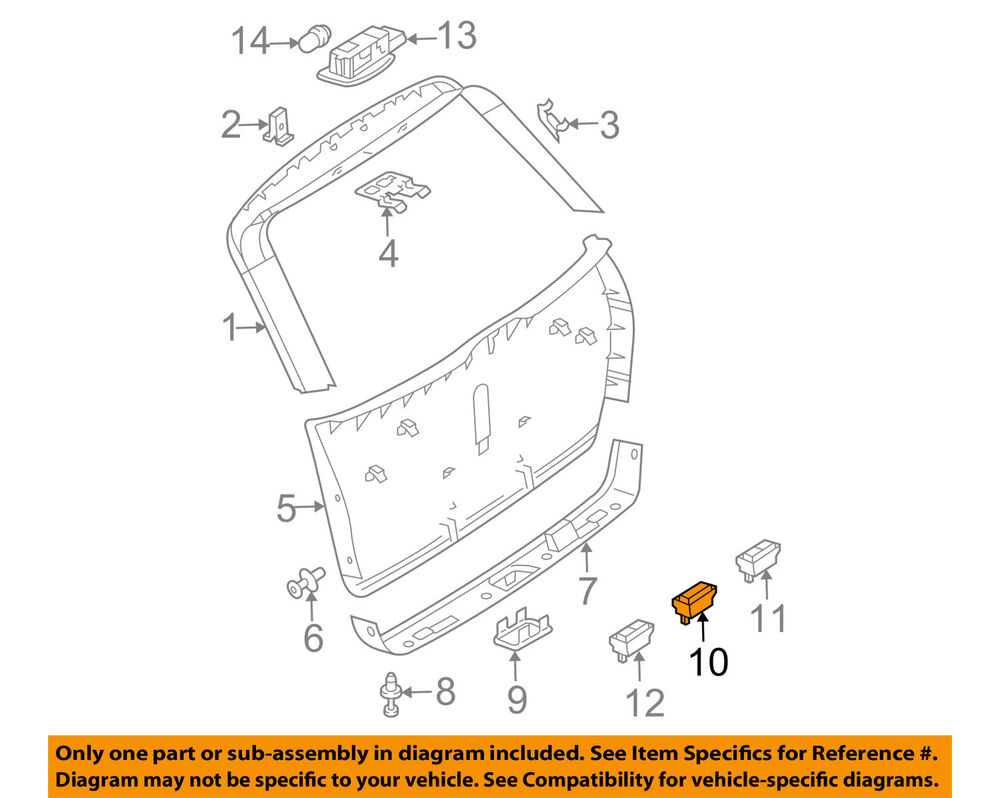 hight resolution of details about mercedes oem gl450 liftgate tail tailgate trunk switch 2118219551