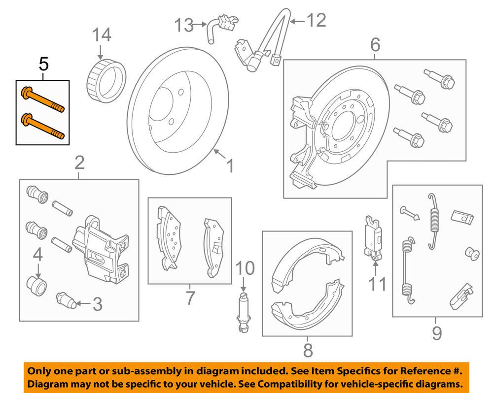 hight resolution of details about ford oem brake rear caliper mount bolt n606046s60