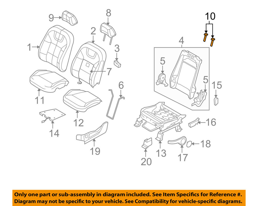 medium resolution of details about ford oem focus driver seat headrest head rest guide sleeve left 9u5z96610a18aa