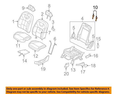 small resolution of details about ford oem focus driver seat headrest head rest guide sleeve left 9u5z96610a18aa
