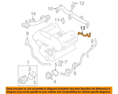 small resolution of details about nissan oem 05 18 frontier 4 0l v6 water pump outlet hose 14056ea200