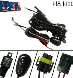 details about h8 h11 relay harness wire kit led on off for chevrolet fog light hid worklamp [ 1000 x 1000 Pixel ]