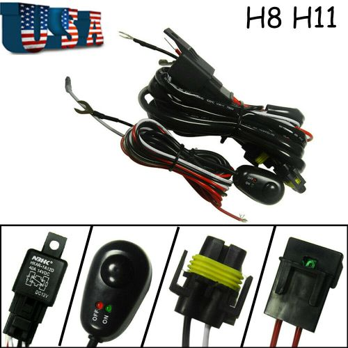 small resolution of details about h8 h11 relay harness wire kit led on off for chevrolet fog light hid worklamp
