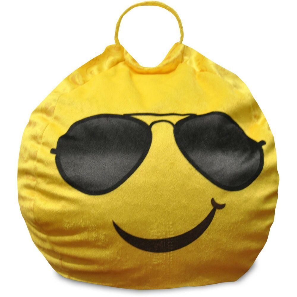 Mini Bean Bag Chair Emoji Pals Cool Shades Mini Bean Bag With Handle 784857673067 Ebay