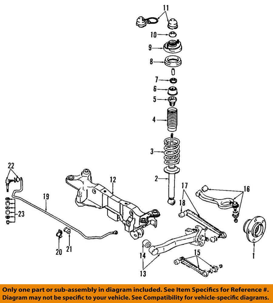 hight resolution of details about dodge chrysler oem 91 96 stealth rear lower control arm mr535505