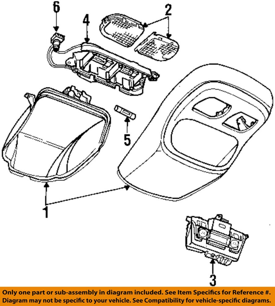 medium resolution of details about dodge chrysler oem 94 96 ram 2500 overhead roof console wire harness 4723433