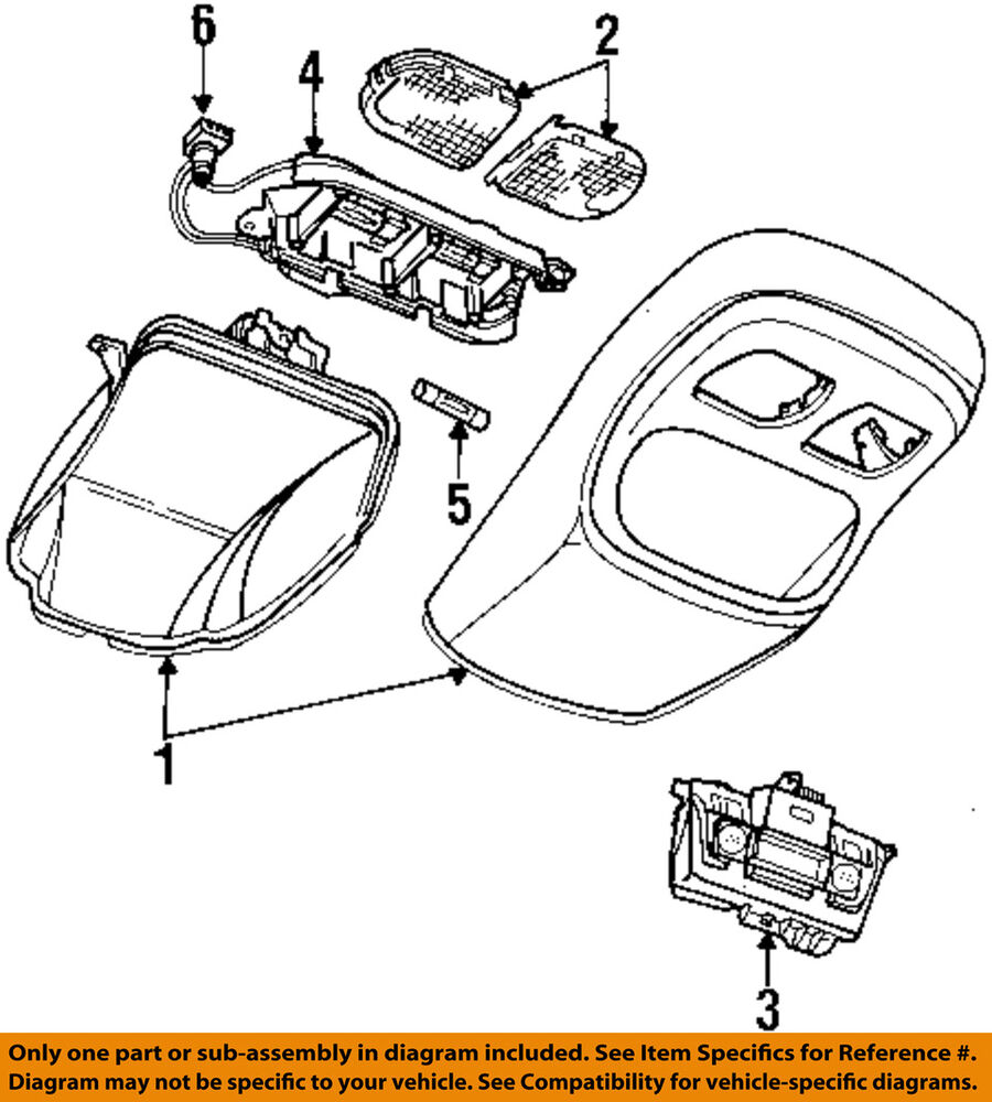 hight resolution of details about dodge chrysler oem 94 96 ram 2500 overhead roof console wire harness 4723433