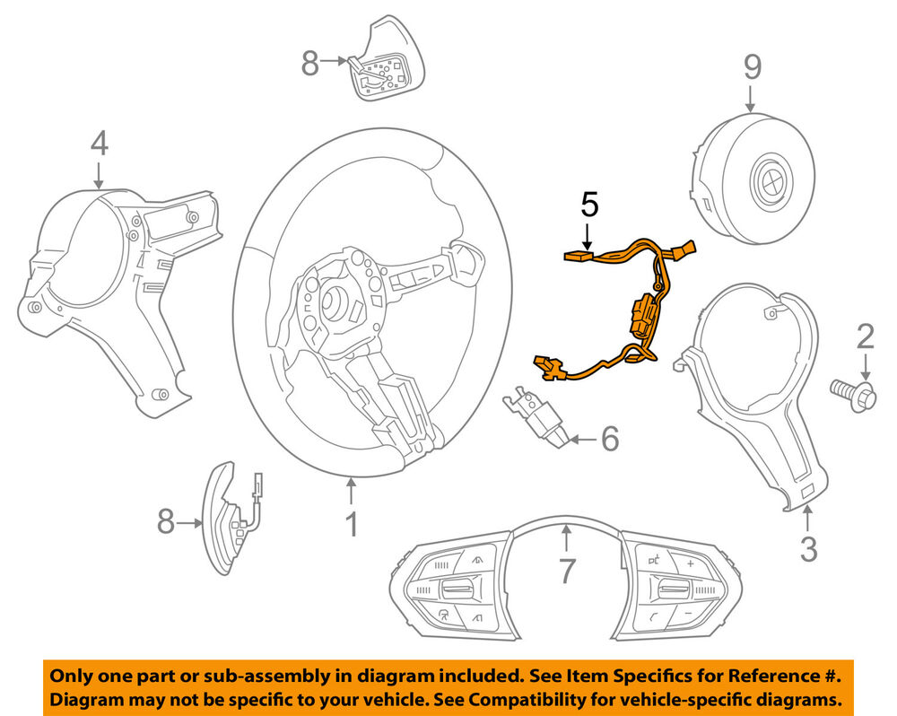 hight resolution of details about bmw oem 14 18 x5 steering wheel harness 32307848335