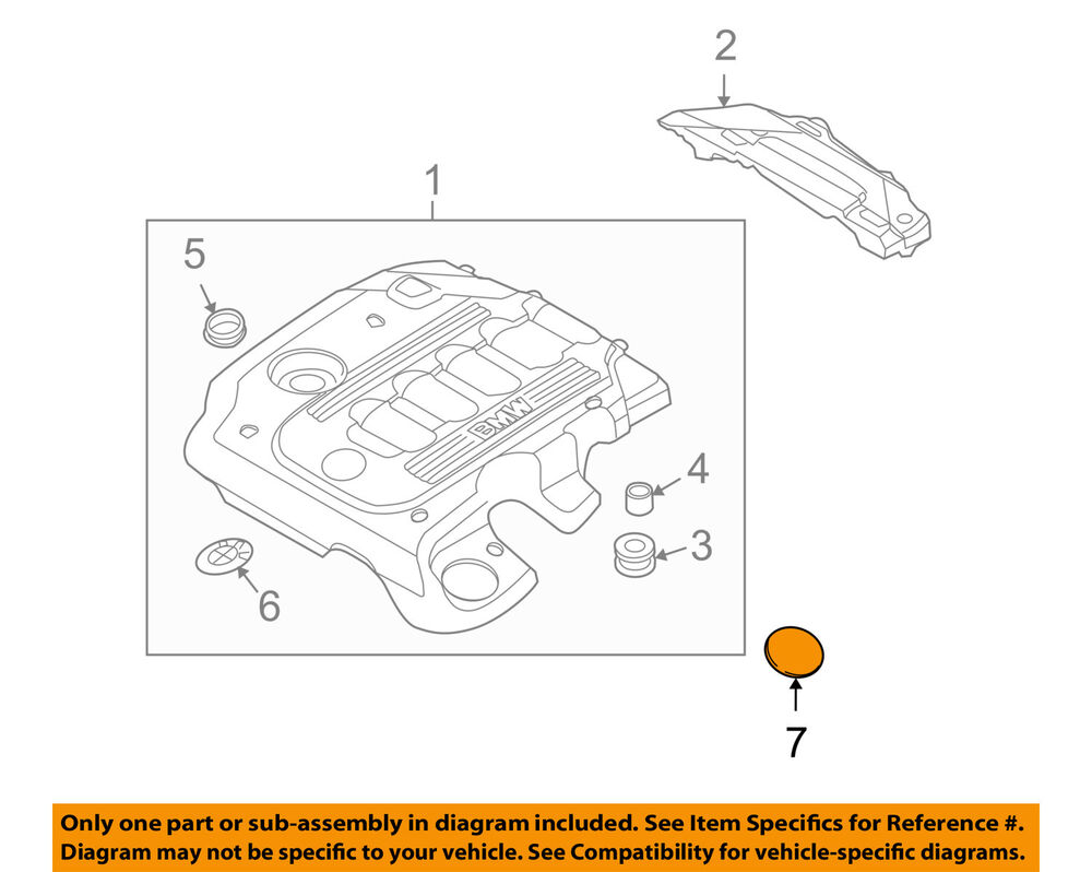medium resolution of details about bmw oem 09 11 335d 3 0l l6 engine appearance cover cover 11147788915