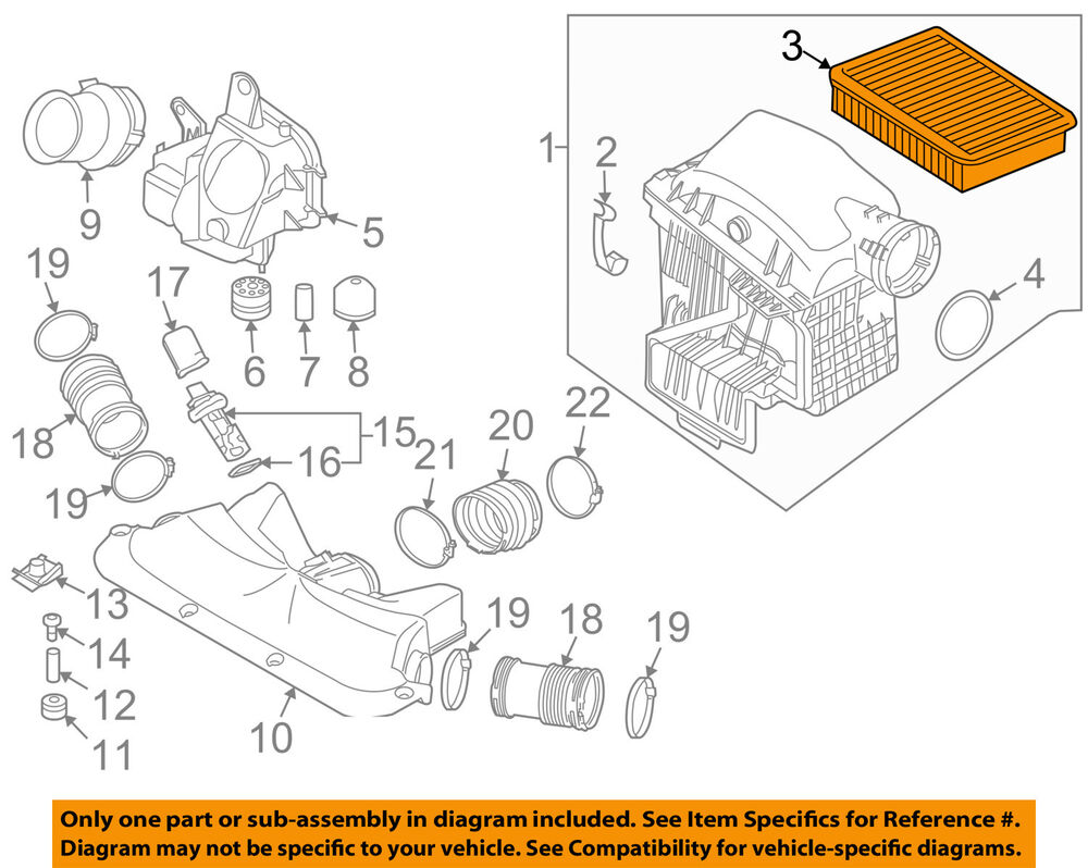 hight resolution of details about bmw oem 07 08 750i engine air cleaner filter element 13717547201